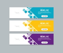 Abstract Web Banner Design Tem...
