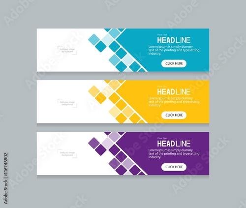 Obraz na płótnie abstract web banner design template