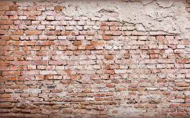 Fototapeta Old cracked wall