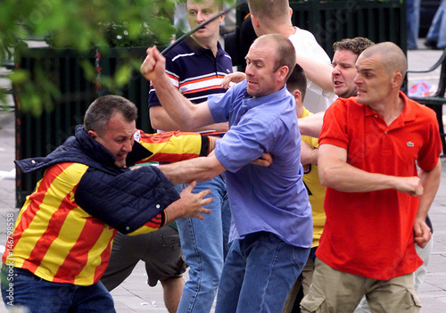 arsenal and galatasaray fans fight in copenhagen buy this stock