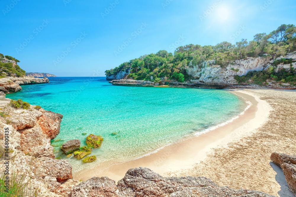 Mallorca Karte Strande.Mallorca Spanien Strand Karte Mit Meer In Cala Llombards