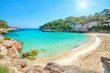 Mallorca Spanien Strand Karte mit Meer in Cala Llombards
