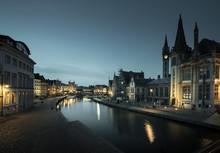 Leie River In Ghent Town, Belg...
