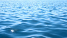 Bright Blue Seawater Surface