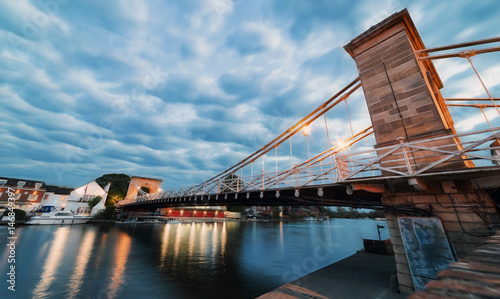 Fotografie, Tablou Marlow Bridge over the River Thames at twilight on a spring evening