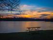 Sunset park nature colorful lake