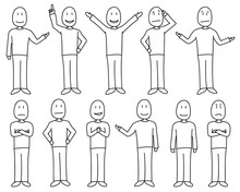 Figures In Poses Depicting Var...