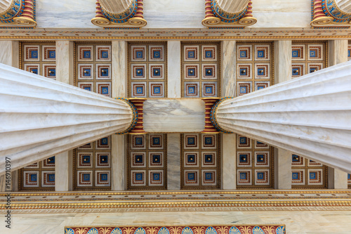 Athens Academy ceiling detail Canvas Print