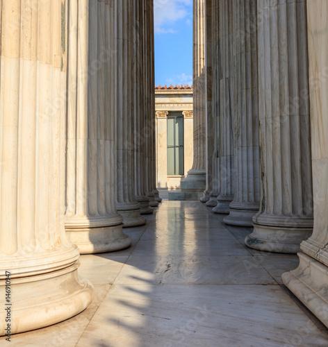 Greek marble pillars rows Wallpaper Mural