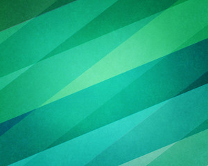 Obraz na płótnie Canvas abstract geometric background in modern blue and green beach color hues with soft lighting and texture on striped block pattern