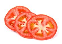 Slice Tomato Isolated On The White Background
