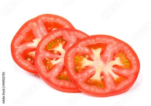 Obraz na plátně  Slice tomato isolated on the white background