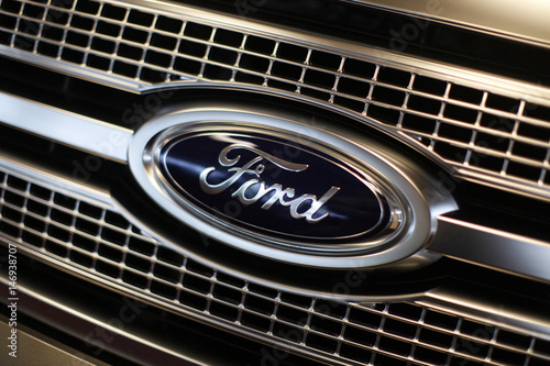 File Photo Of Ford Logo In The Showroom At The Sill Terhar Motors