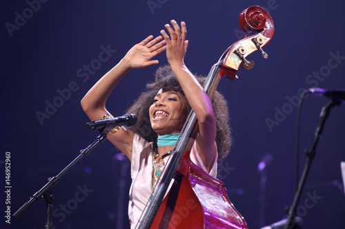 U S  Jazz bassist and singer Esperanza Spalding performs during the