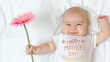 canvas print picture - Mother's Day message with baby girl