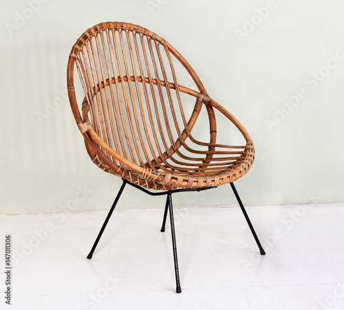 Comfortable Round Wicker Chair Buy This Stock Photo And Explore