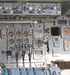 Aircraft cockpit dials and switches