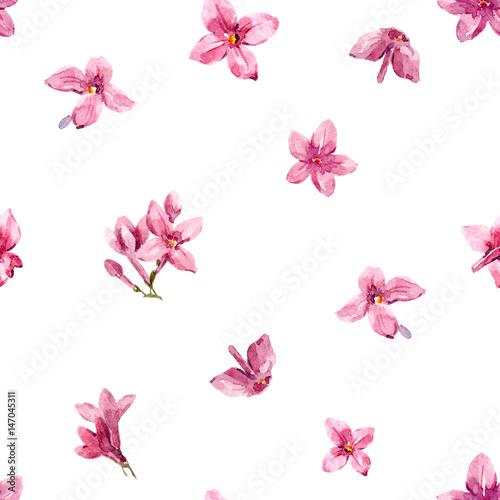 Tuinposter Vlinders Watercolor floral pattern