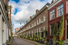 Amsterdam, The Netherlands, April 22, 2017: Old Monastery Karthuizerhof At The Karthuizerstraat In The Jordaan In Amsterdam