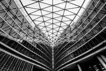 Building With Arches And Windows Example Of Modern Architecture In Black And White