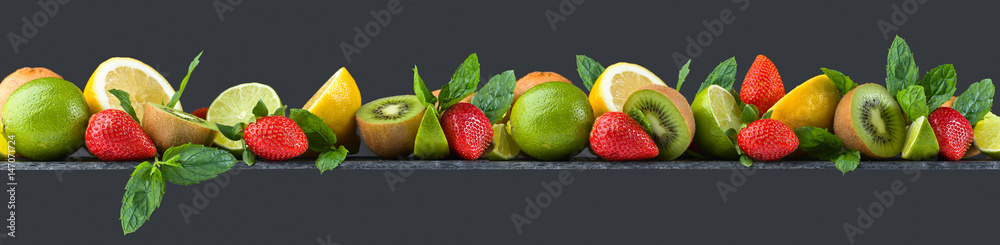 Fruits and peppermint