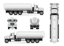 Tanker Truck Vector Template F...