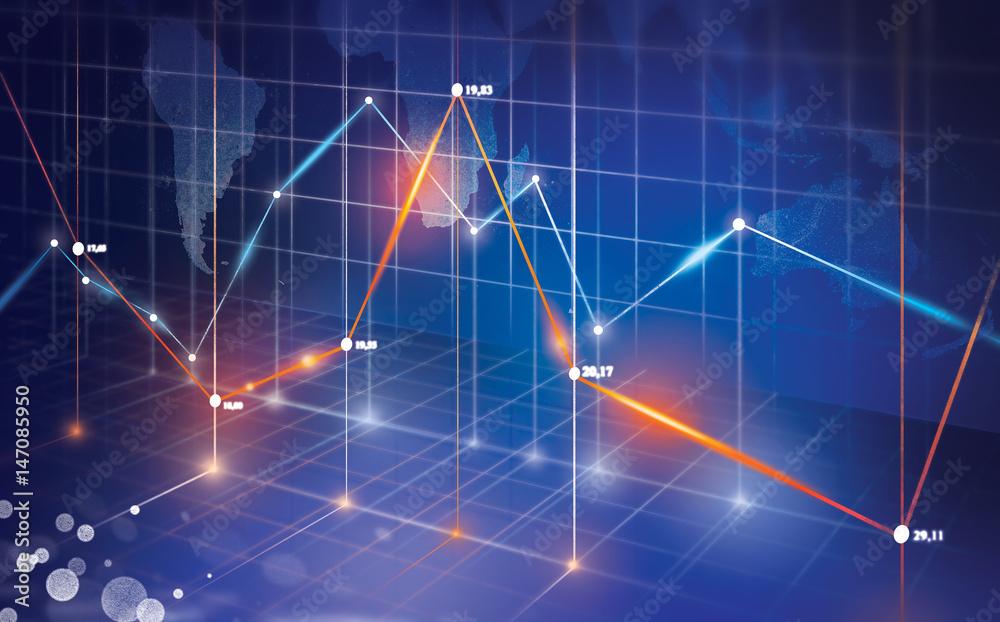Fototapeta wykres