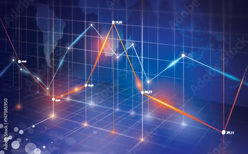 Fotografie, Obraz  wykres