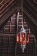 Old Morocco Style Stained-glass Chandelier