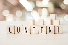 Content Word On Wooden Cubes B...