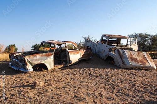 Türaufkleber UFO Namibia - Auto Schrott in Solitaire