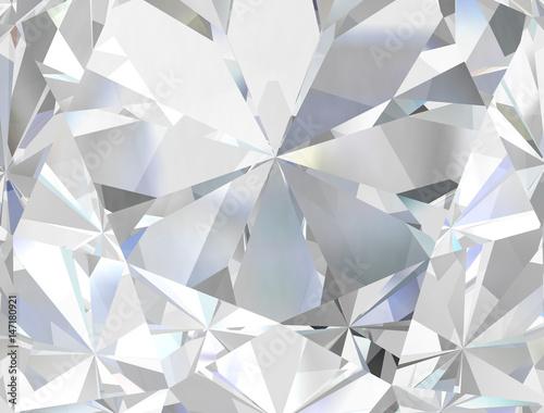Realistic diamond texture close up, 3D illustration. Canvas Print