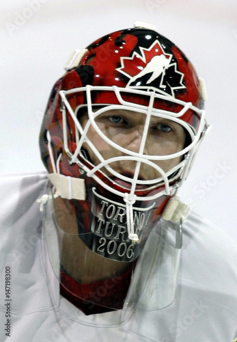 Team Canada Goalie Martin Brodeur Wears New Face Mask During Team