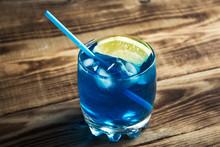 Light Blue Alcoholic Drink Cur...