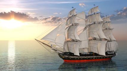 Fototapeta Marynistyczny 帆船