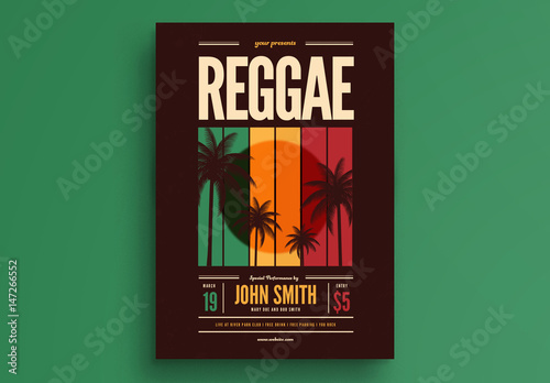 reggae music event flyer layout buy this stock template and explore