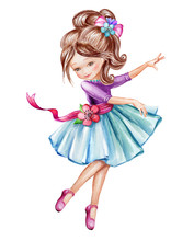 Watercolor Illustration, Cute ...