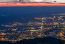 Sunrise Over Palm Springs, Cal...
