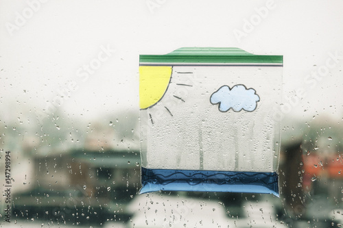 Water Cycle In A Bag Ziplock Plastic With And Painted On It Cloud The Sun Hanging Window Clouds Form Rain Fall