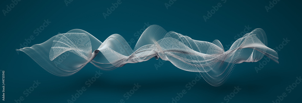 Fototapety, obrazy: abstract wave shapes