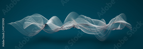 Poster de jardin Abstract wave abstract wave shapes