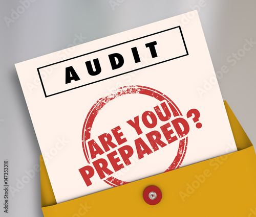 Photo Audit Envelope Are You Prepared 3d Illustration