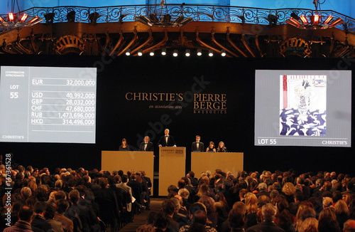 Members Of Christie S Sell By Auction Les Coucous Tapis Bleu Et