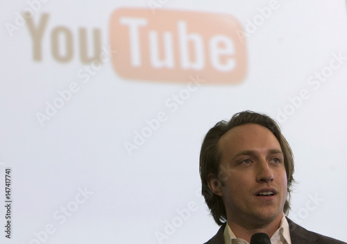 YouTube CEO and co-founder Hurley attends a ceremony