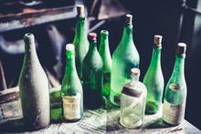 Empty Green Bottles - Objects And Places Lost In Time