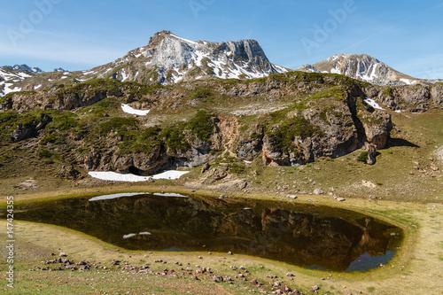 Fotografía  Laguna Almagrera o La Mina y Picos Albos