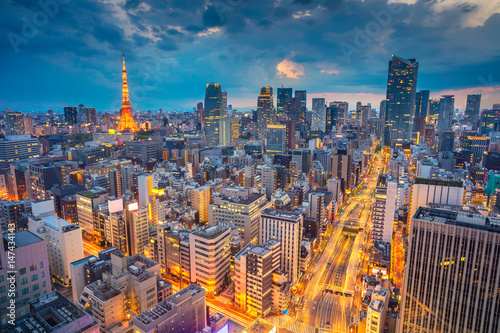 Photo  Tokyo. Cityscape image of Tokyo, Japan during sunset.