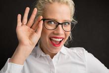 Creative Person Holding Glasses