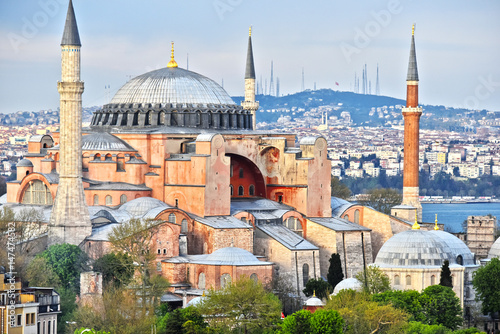 Cuadros en Lienzo Hagia Sophia museum (Ayasofya Muzesi) in Istanbul, Turkey