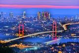 Panoramic view of Istanbul with the Bosphorus Bridge